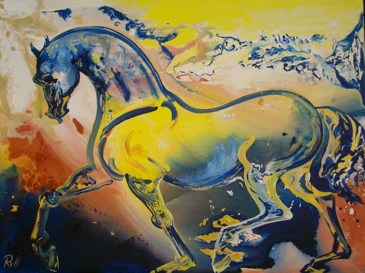 Horse painted at Jaipur Art Summit 13